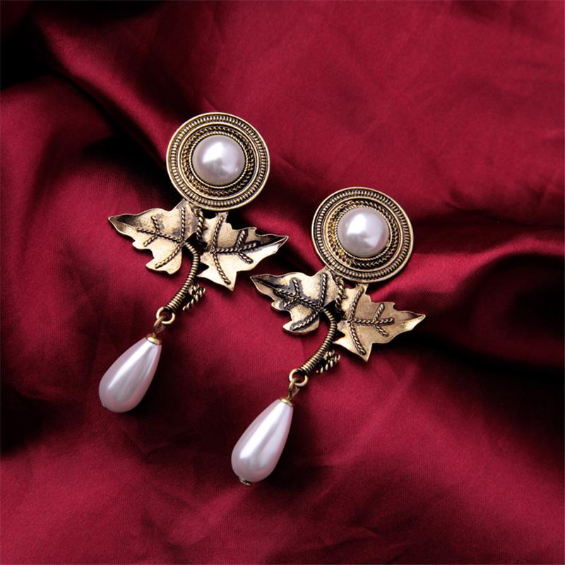 22k Gold Jewelry Indonesia Jewelry Manufacturers Maple Leaf Pearl