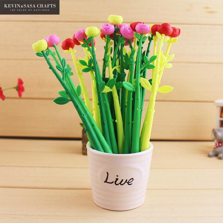 3Pc Flower Gel Pen Cute Pen Stationary Kawaii School Supplies Gel Ink Pen School Stationary Office Suppliers Pen Kids Gift