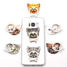 Cat style Finger Ring Buckle Mobile Phone Smartphone  Stand Holder For Pop iPhone Samsung Xiaomi Holders & Stands