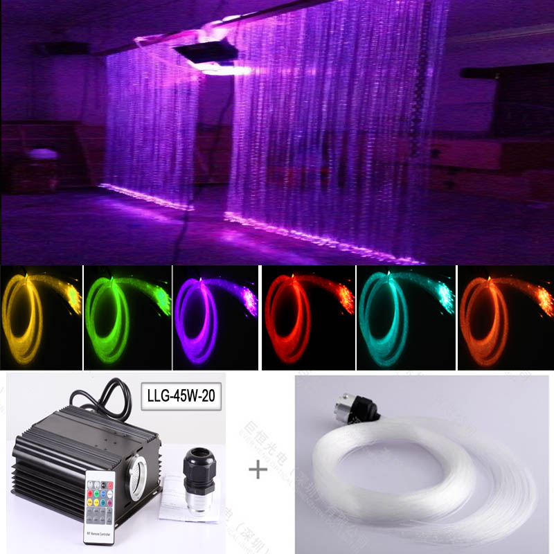 Safely non-electricity Fiber optic led twinkling stars led waterfall curtain lights electricity market reform