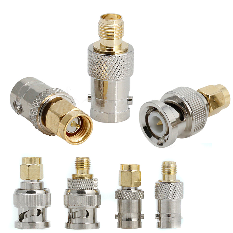 4pcs BNC To SMA Connectors Type Male Female RF Connector Adapter Test Converter Kit Set4pcs BNC To SMA Connectors Type Male Female RF Connector Adapter Test Converter Kit Set