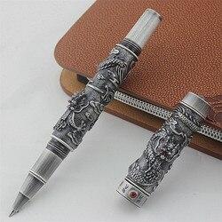 Wysokiej jakości luksusowe smok długopis nowość Metal Ball pióro do pisania Caneta 0.5 MM stalówka papiernicze artykuły biurowe