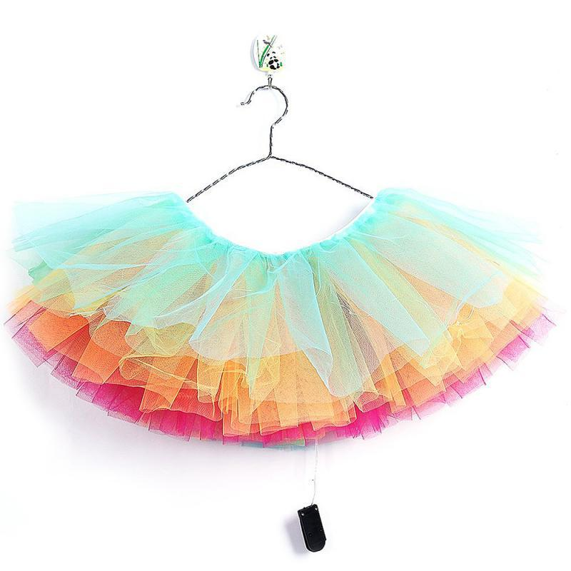 led light up sexy women ballerina tutu chiffon short skirt dress petticoat dance rave neon party - Halloween Petticoat
