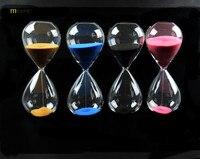 1 unid nuevo 45 minutos awaglass mano-soplado Timer imán reloj magnético reloj de arena ampulheta artesanía arena reloj temporizador j1189-6