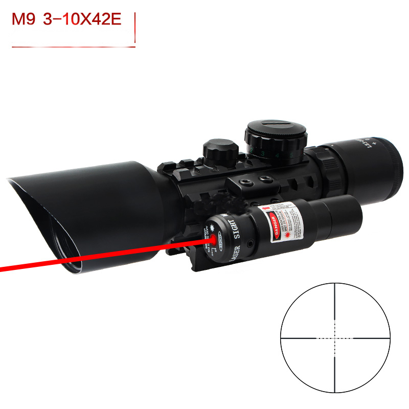 M9 3-10x42 Tactical Optical Sight Red Dot Sight Wide-field Riflescope Seismic And Night Vision Rifle Scope For Hunting