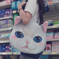 Original cat Cartoon Zippe Bag cat Head Personalized Tote Bag Women Large Capacity Handbag Printed Shoulder Bag valentine bag