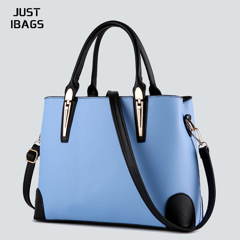 Simple Women OL handbag PU leather Female Fashion Shoulder Bags Solid color Tote Crossbody bag Famous Brand designer Sac a main