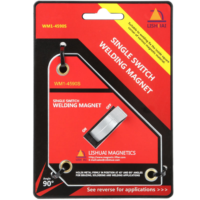 Forte Interruttore Singolo Magnete Al Neodimio di Saldatura Supporto On/Off Interruttore Morsetto Magnetico/Magnete Quadrato 45 90 Gradi Piccolo formato