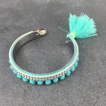 Metal Tassel Bangle Jewelry Bracelets f02846ee759da375bf7e2a: AQUE Black Pink yellow