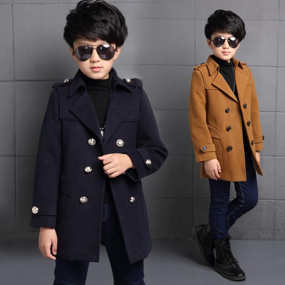Toddler Baby Boys Jackets 2018 Autumn Winter Jacket For Boys Coats Kids Wool Jacket Children Warm Outerwear Baby Boys Coat стоимость