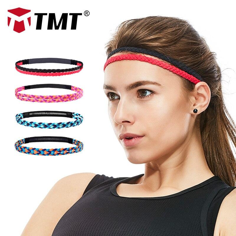 cd82f68d3ef TMT Women Men Yoga Hair Bands Sports Headband Anti-slip Elastic weave Sweatband  Running Biking