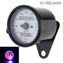 Universal Motorcycle Speedometer 12V Metal Case Odometer Night Light backlight indicator for Motorbike