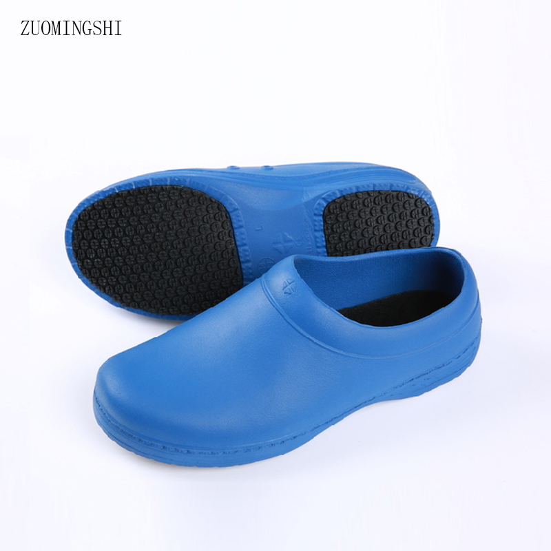 Chef Work Shoes for Men Waterproof Non-Slip Flat Footwear Restaurant Hotel Kitchen Hospital Surgical Doctors Slippers Shoe soft and comfortable work shoe covers slip resistant mens safety footwear used in restaurant sea food shop kitchen chef shoes