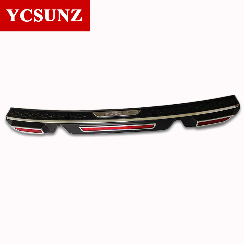 2014-2017 For Honda Hrv Rear Bumper Step Protector ABS Chrome Accessories For Honda Hrv Vezel Rear Threshold Part Ycsunz 2pcs rear bumper protector step panel boot cover sill plate trunk trim accessories fit for 2014 2015 2016 honda hr v vezel