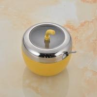 Seasoning box seasoning box sauce pot set 304 stainless steel kitchenware spice jar