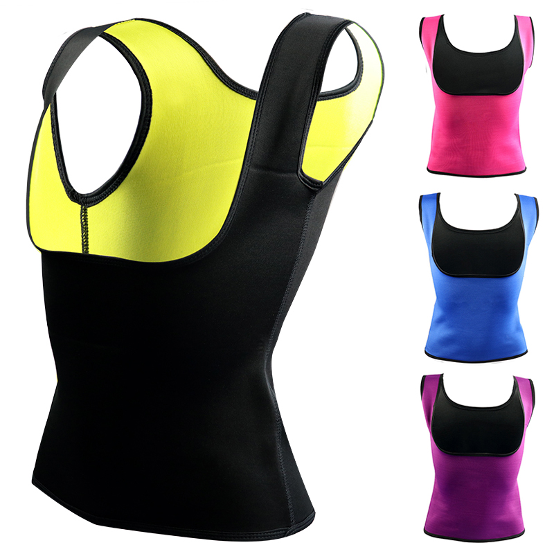 Plus Size Neoprene Sweat Sauna Hot Body Shapers Vest Waist Trainer Slimming Vest Shapewear Weight Loss Waist Shaper Corset Hot