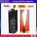 200 Вт DJ сценический специальный эффект четырехугловая пожарная машина 4 угла маленький DMX контроль пламя проектор Вечеринка шоу огонь спрей ...