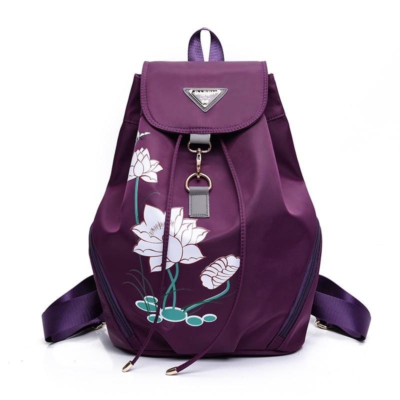 High quality waterproof anti-fouling nylon Backpack women canvas Large capacity travel bagpack women mochila kanken backpack 1