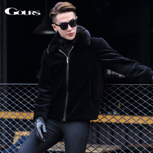 Gours Winter Genuine Leather Jackets for Men Fashion Brand B