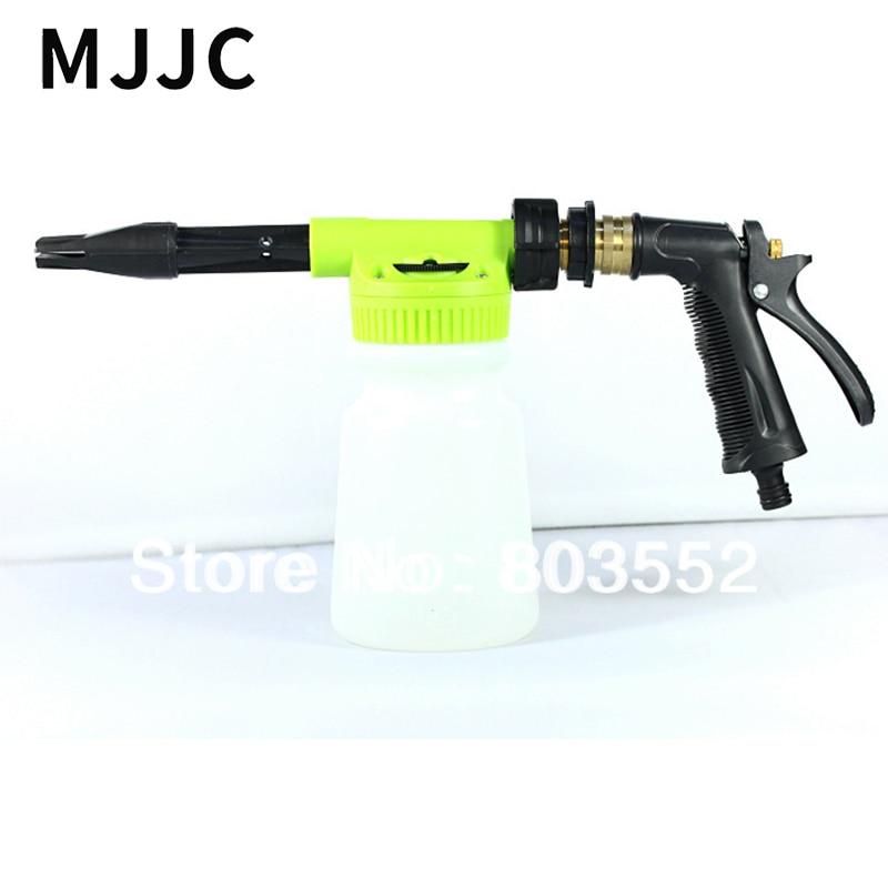 MJJC Brand 2017 with High Quality Car Wash Foam Gun Sprayer with only garden hose, no need of power or gas car wash garden watering garden hose 15 meter