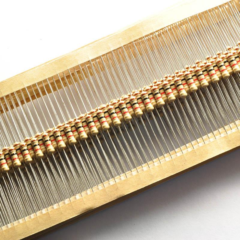 5/% 1k Ohm Pack of 10 Carbon Film Resistors 1//4W