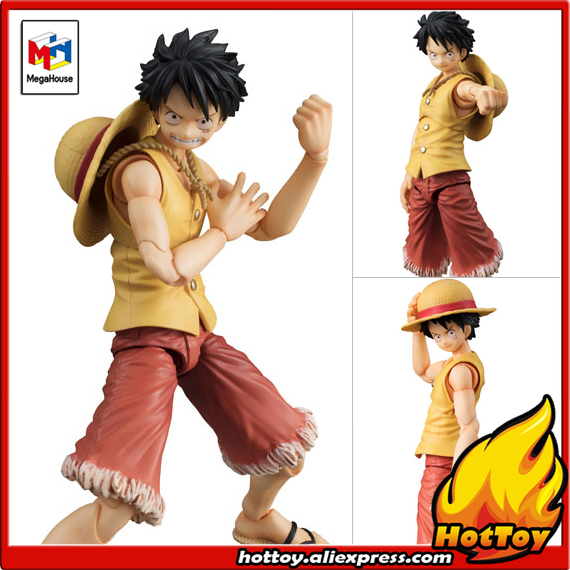100% Original Megahouse Variable Action Heroes Action Figure - Monkey D. Luffy PAST BLUE (Ver.Yellow) from ONE PIECE japanese anime one piece original megahouse mh variable action heroes vah action figure monkey d luffy