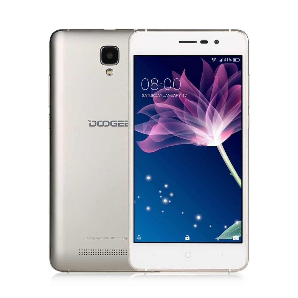 DOOGEE X10 мобильные телефоны 5,0 дюймов ips 8 Гб Android6.0 смартфон Dual SIM MTK6570 1,3 ГГц 5.0MP 3360 мАч WCDMA GSM мобильный телефон