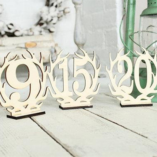 10pcs free standing 3d anter wood table number country wedding table centerpiece bridal shower christmas party