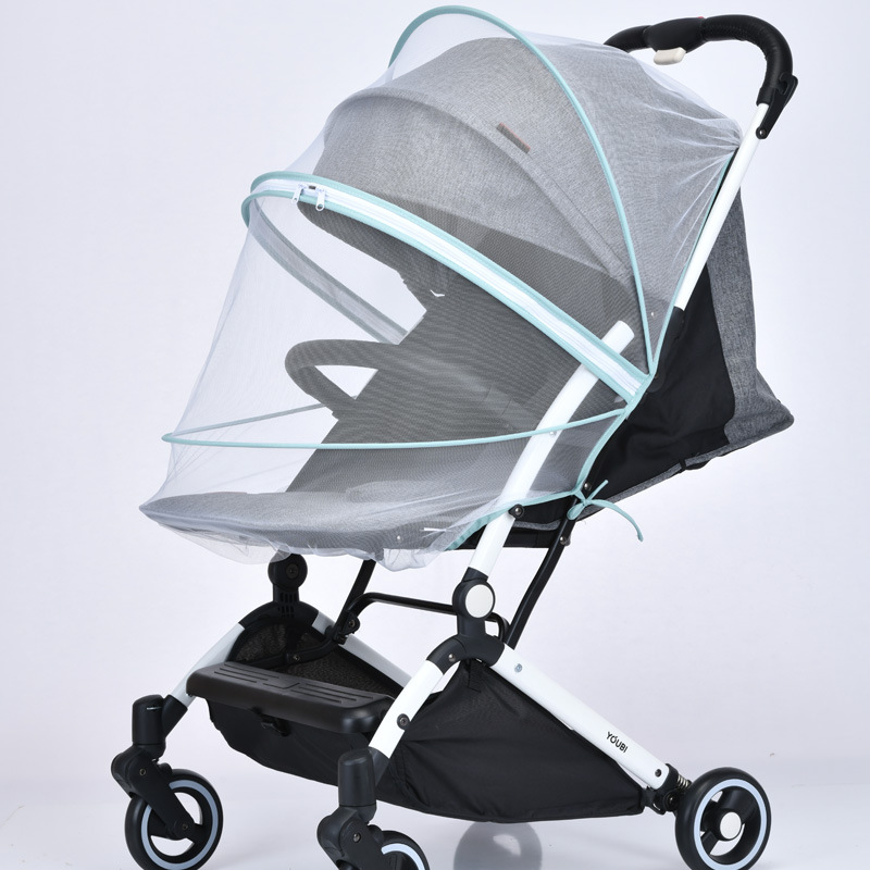 Baby Multifunction Stroller Universal Mosquito Net Foldable Baby Stroller Crib Netting Pushchair Cart Mosquito Net Safe Mesh(China)