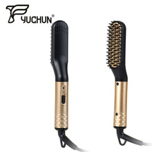 Bead Straightener for Man New Fashion Multi Functional Hair Comb Brush Curling Curler Show Cap Men Iron