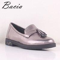 Bacia/Женская обувь из овечьей кожи 2019 г. женская обувь из натуральной кожи на плоской подошве, 3 цвета, лоферы без шнуровки, женские мокасины на