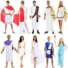 Adults Ancient Greece Cosplay Costume Goddess Halloween Carnival Costumes for Women Men Fancy Dress Supplies