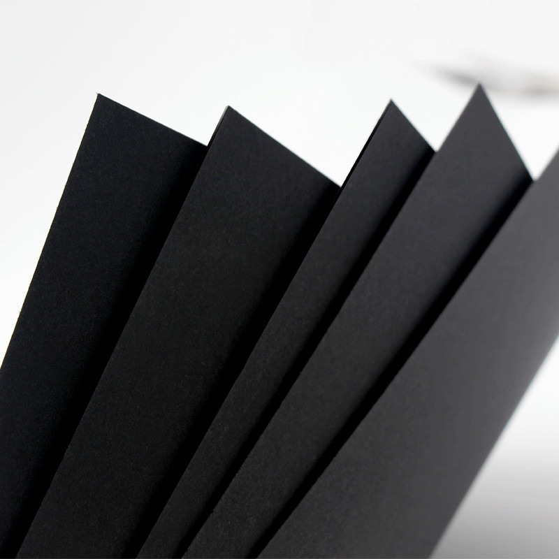 High Quality A3 / A4 Pure Wood Pulp Black Cardboard Paper DIY Upscale Children Handmade Copy Paper 100sheets/pack