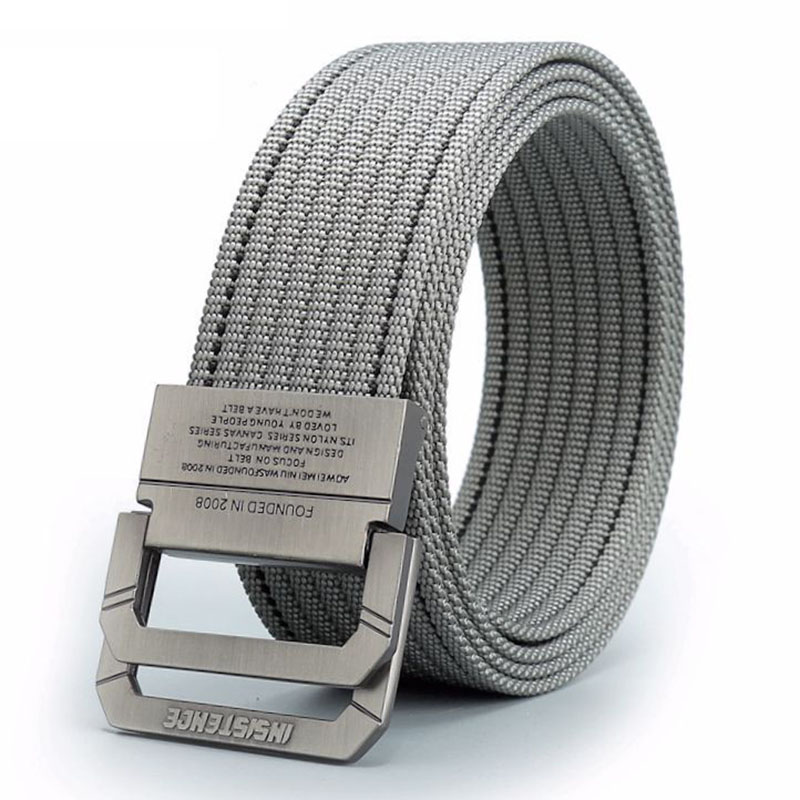 Nen Nylon Casual Belt Men Women Fashion Zinc Alloy Buckle Sliod Strongest Casual Belt Outdoor Belt HE2653
