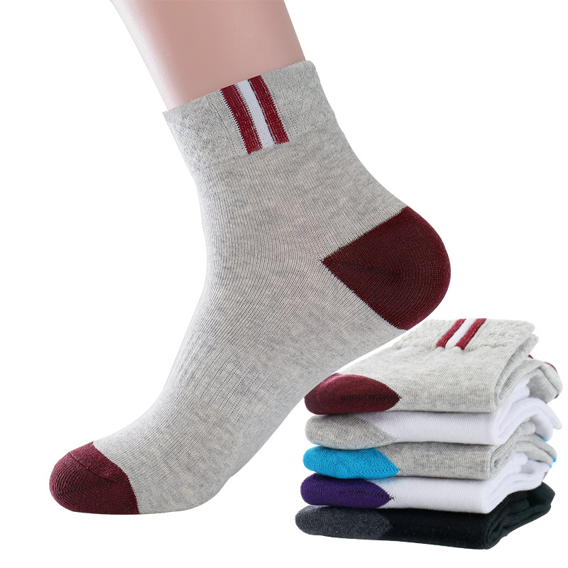 5 Pairs High Quality Socks Men Autumn Winter Sports Fashion Casual Male Cotton Socks In The Tube Breathable Color Matching New