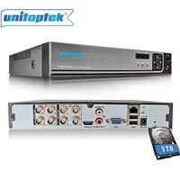 4Ch 8Ch 1080N CCTV AHD DVR NVR XVR Video Recorder 720P 1080P 5 IN 1 CVI
