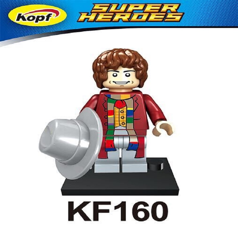 Single Sale Super Heroes Single Sale Tom Baker River Song Dr.Who Figure Building Blocks collection kids gifts Toys KF160 image