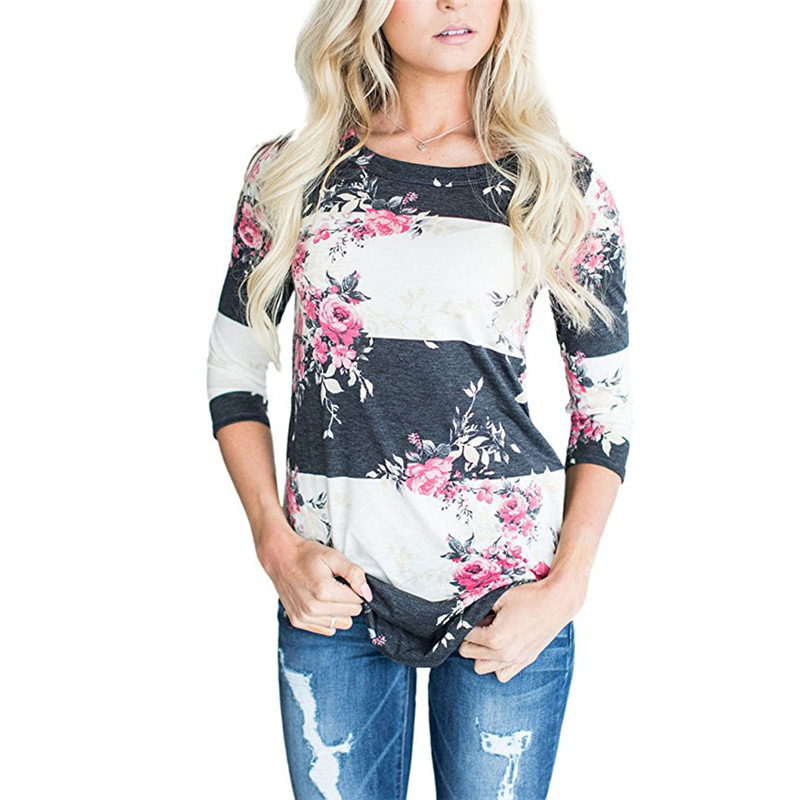 83c640f5 IYAEGE Women Blouses 2019 Spring Floral Print Shirt Women Casual Long  Sleeve Blouse Autumn 3/