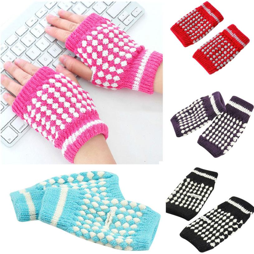 2017 New Winter Gloves 1 Pair Mens Black Knitted Stretch Elastic Thermal Warm Half Finger Fingerless Gloves Wholesale Golves Back To Search Resultsapparel Accessories