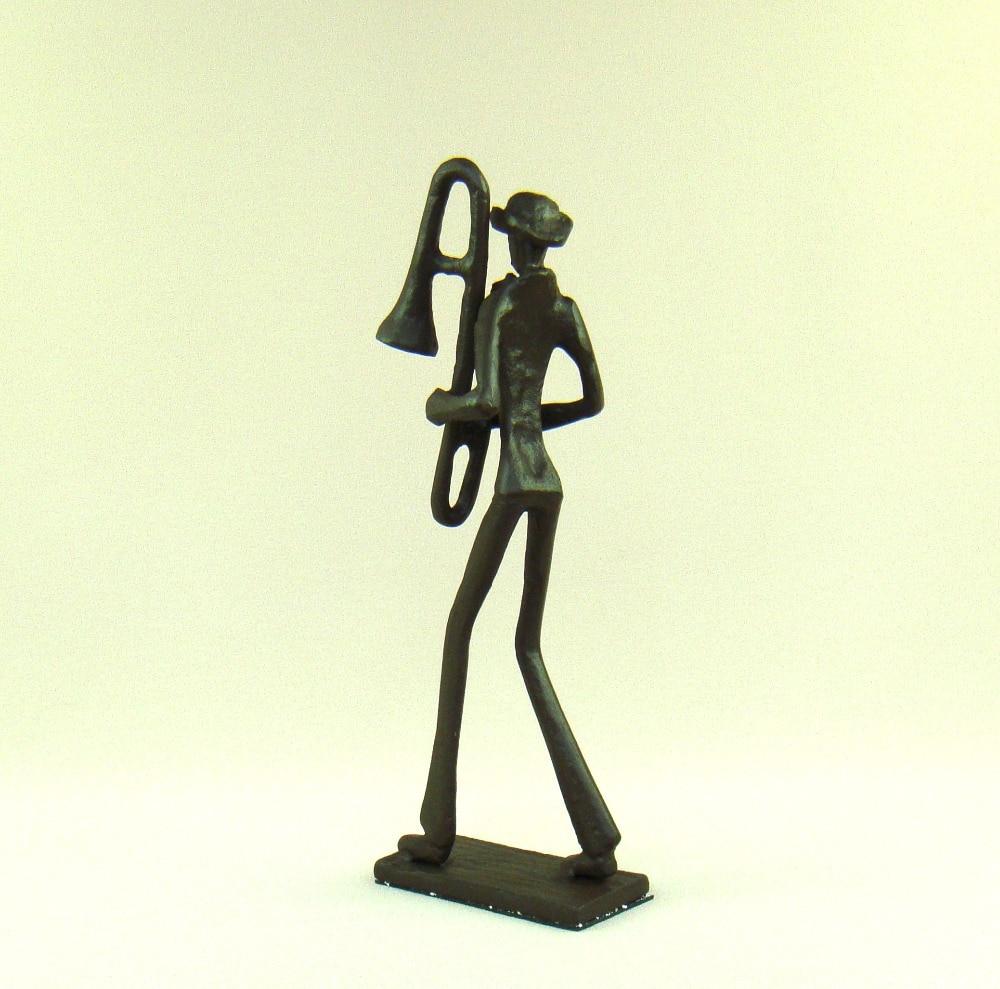 Vintage Pig Iron Trombone Player Musician Figurine Abstractive Metal ...
