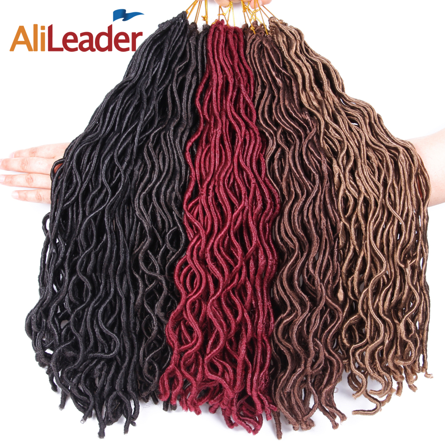 Alileader Crochet Braids Faux Locs Curly Hair Braid Kanekalon Hair Extension Black Blonde White Braiding Hair