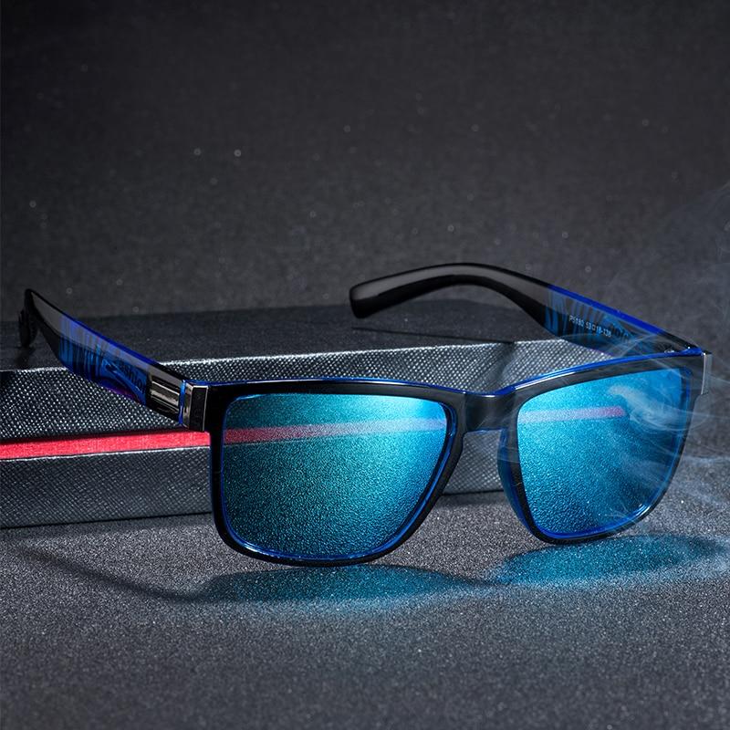 JAXIN Fashion Square Polarized Sunglasses Men classic coated SunGlasses Women new versatile driving outdoor gogglesUV400okulary