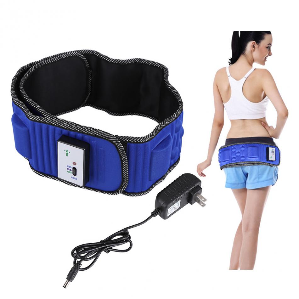 Waist Massage Belt Electric Vibrating Massager 5 Motors Slimming Belt Burning Fat Weight Losing Vibration Health elastic thin slimming belt magic waist abdomen massage belt black