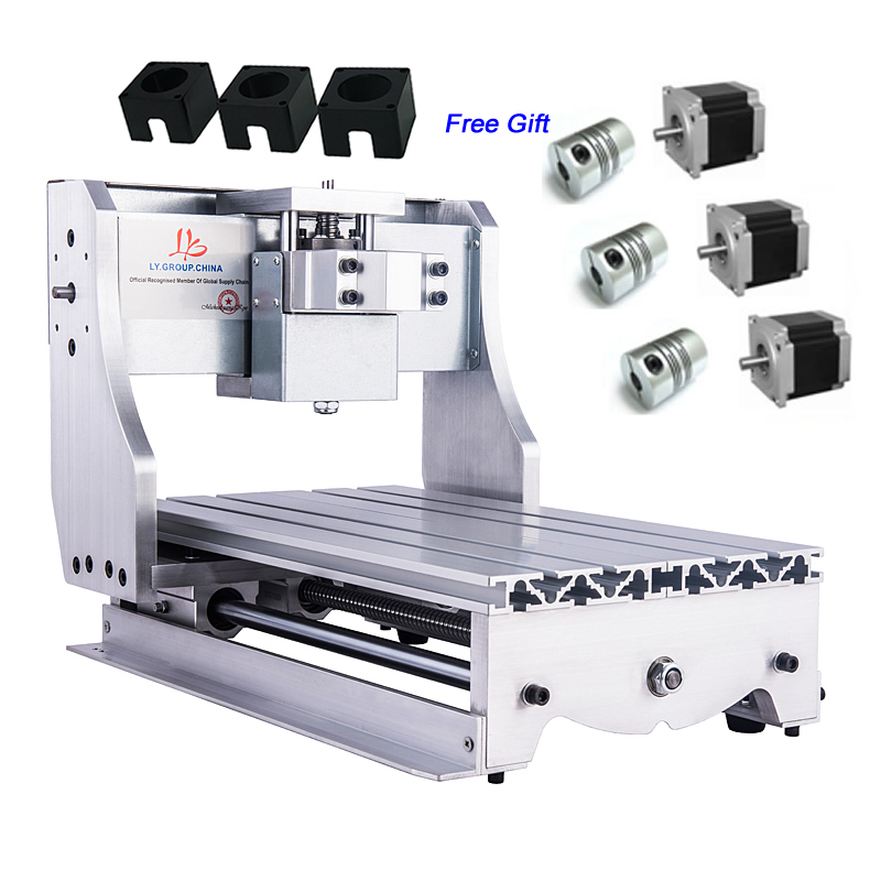 Kit de marco de bricolaje CNC para máquina de grabado 3020Z con acoplamiento de soporte de motor paso a paso de tornillo de bola