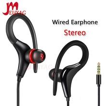 MEUYAG 3.5mm kulak kancalı Stereo kulaklık spor koşu kulaklık kulaklık bas kulaklık için Mic ile iPhone Samsung IOS Android