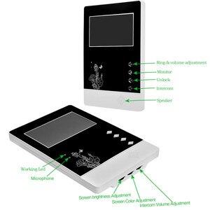 Image 2 - السلكية الرئيسية فيديو باب الهاتف جرس باب إنتركوم 4.3 بوصة الأشعة تحت الحمراء للرؤية الليلية 25 نغمات IP54 مقاوم للماء لنظام دخول الباب