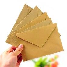 100 יח\חבילה חדש בציר DIY משולב קראפט נייר מעטפה 16*11 סנטימטר מתנה כרטיס מעטפות לחתונה מסיבת יום הולדת