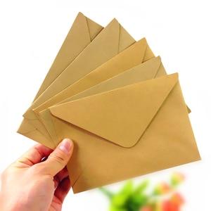 Image 1 - 100 pçs/lote novo vintage diy multifuncional papel kraft envelope 16*11cm presente cartão envelopes para festa de aniversário casamento