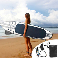 290x80x10cm Inflatable Stand Up Surfboard Surfing Board Water Sport Sup Board with Paddle Pump Foot Safety Rope Tool Kit
