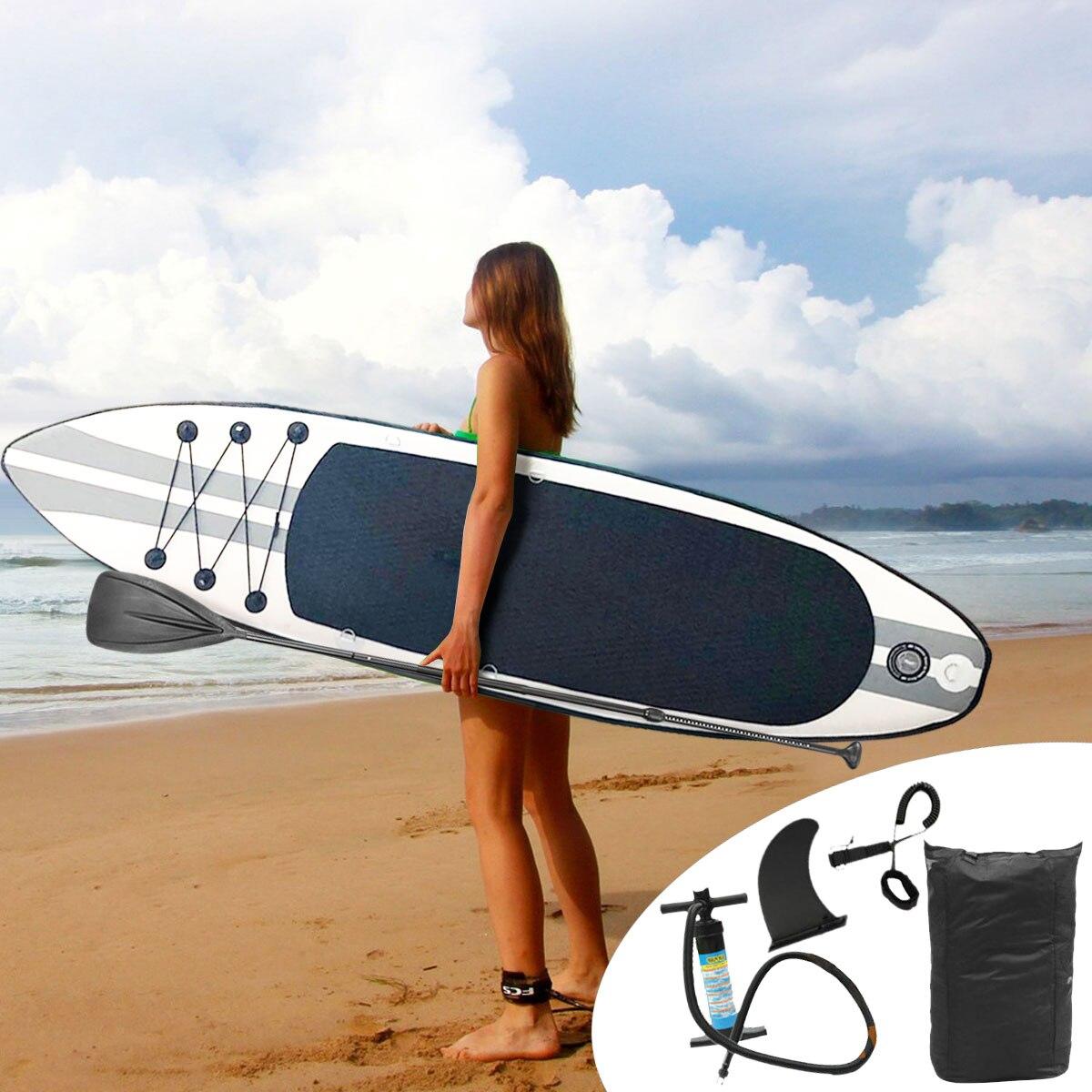 320x78x15 cm inflable tabla de surf deporte de agua Sup con pie de bomba de paleta juego de Herramientas de cuerda de seguridad